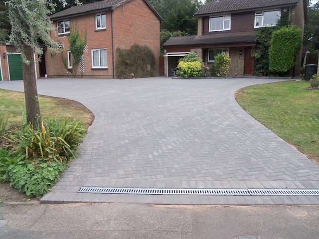 Completed block paved driveway in Datchet, near Windsor, Berkshire