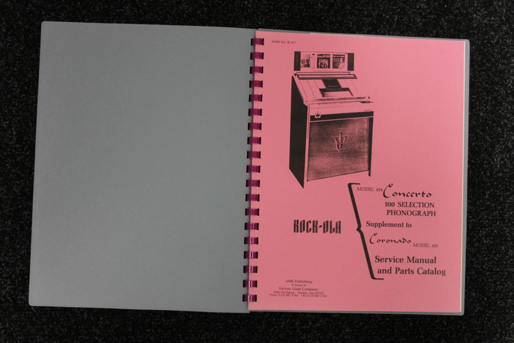 Rock-ola - Service Manual and Parts Catalog 434 431