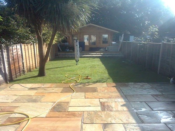 New patio by Block Paving Surrey Bedfont