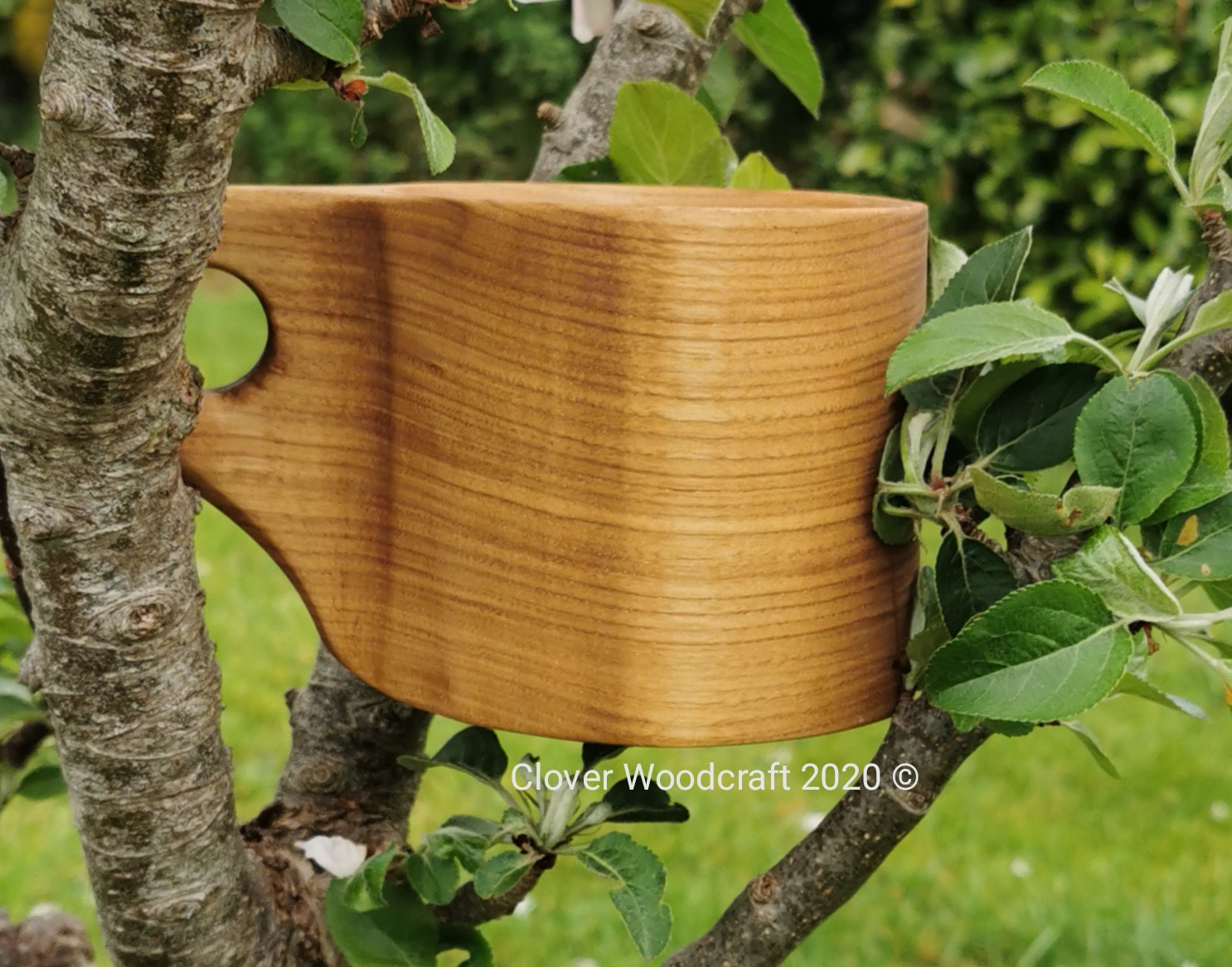 Hand Carved Spanish Chestnut Wooden Mug