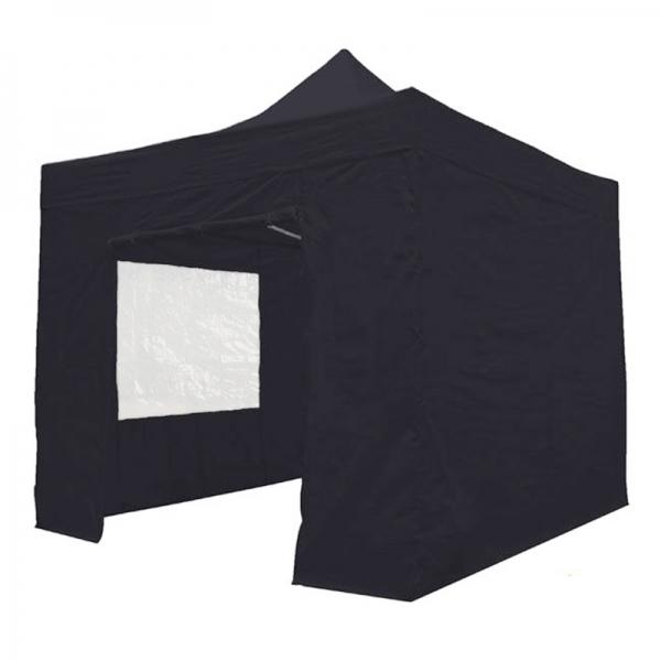 Easy Up Tent 2x2 Zwart incl zijwanden