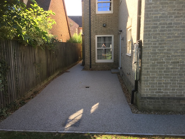Newly laid resin bond aggregate
