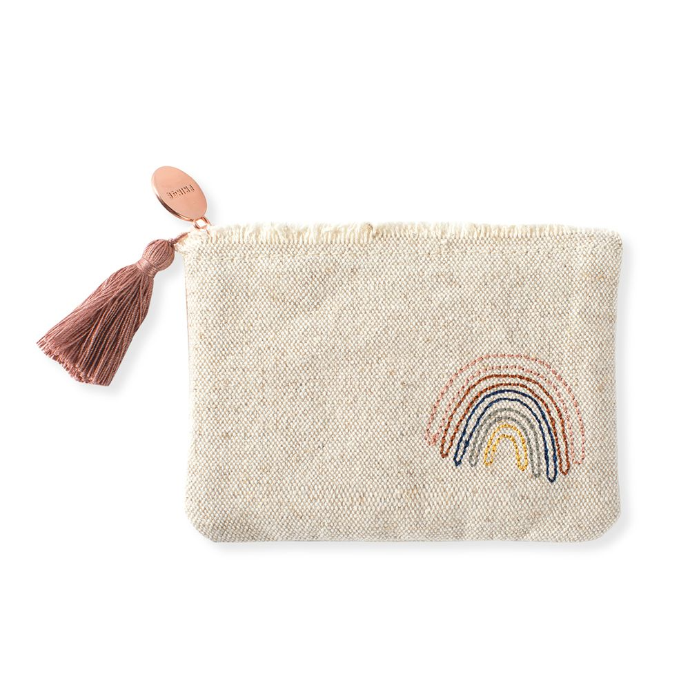 Fringe Studio Stitched Rainbow Coin Pouch