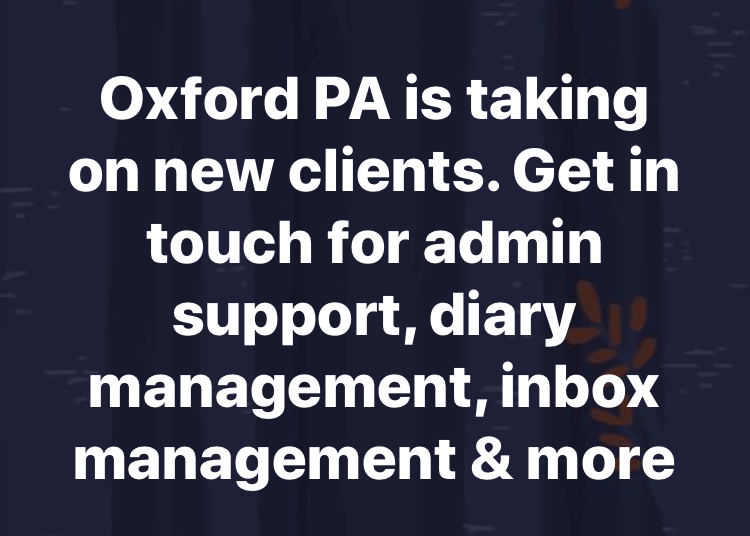 I'm taking on new Clients in June 2019.