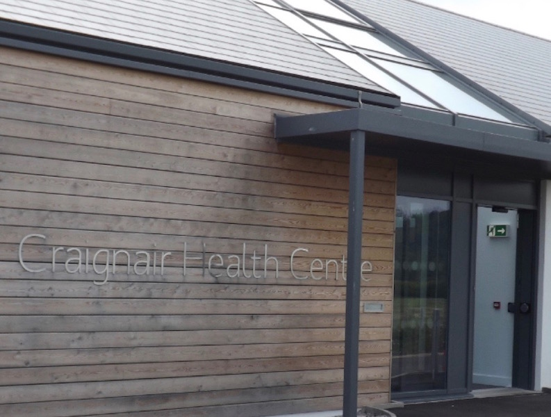 External view of Craignair Health Centre Dalbeattie