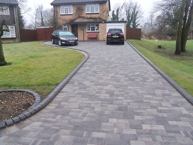 New block paved driveway in Datchet, Berkshire