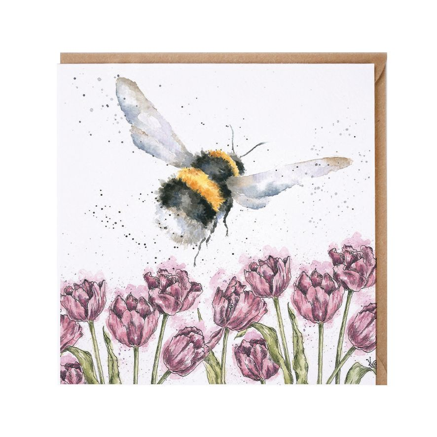 Wrendale 'Flight Of The Bumblebee' Greetings Card