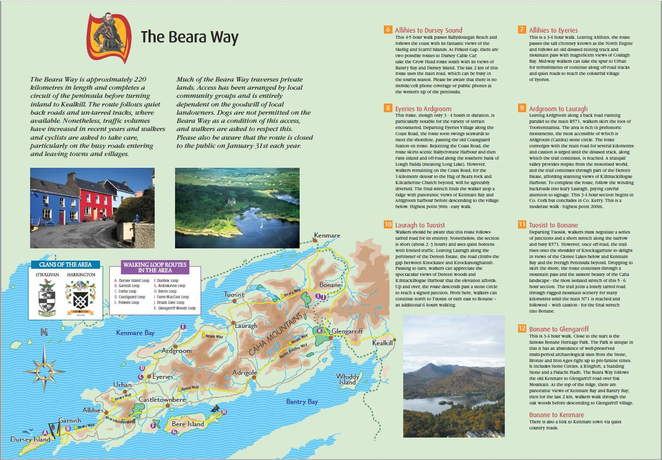 beara way map