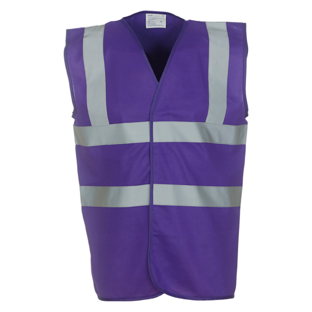 Purple Hi Vis safety Vest