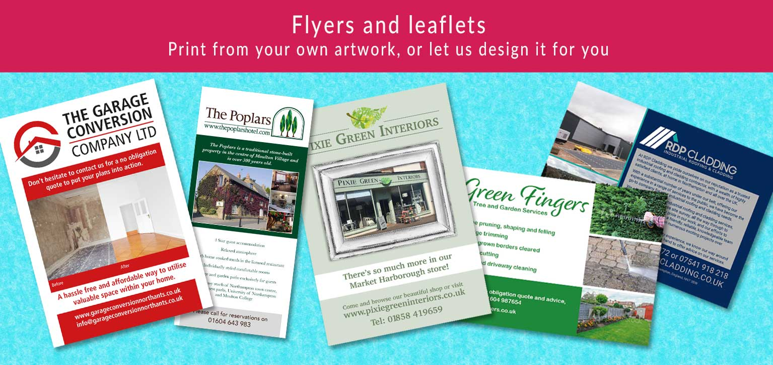 Print from your own artwork, or let us design a leaflet for you