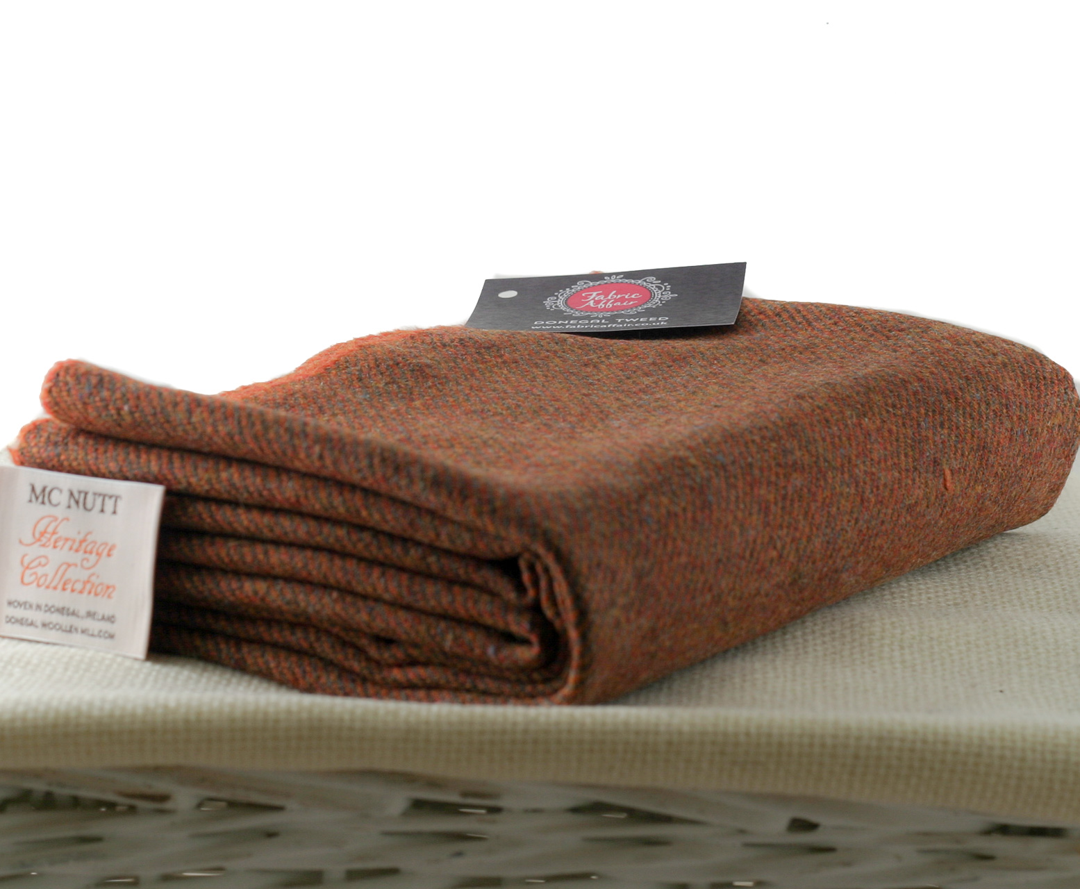 Donegal Tweed by Fabric Affair: Heritage Collection, Bark Twill.