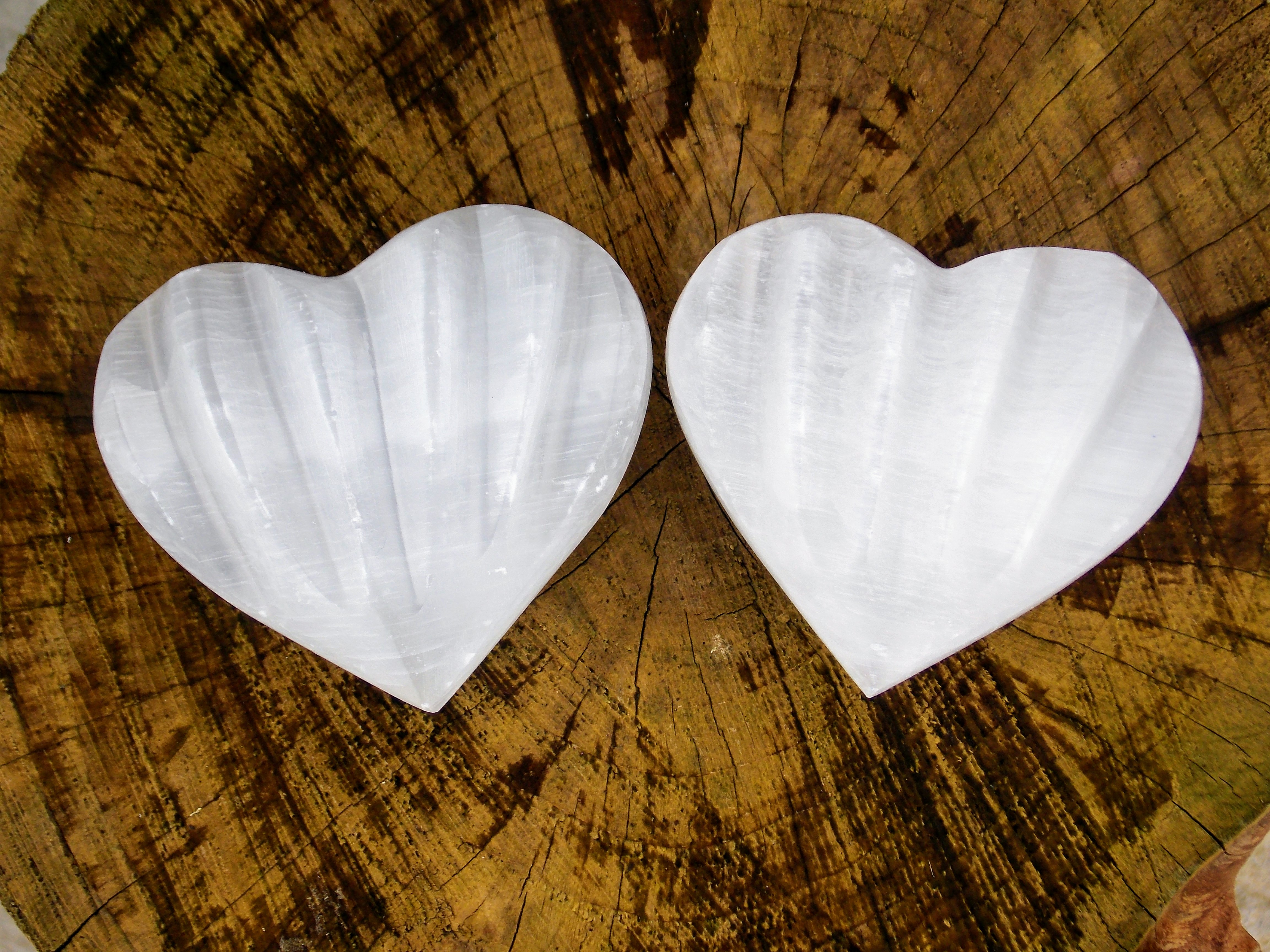 Large Selenite Heart