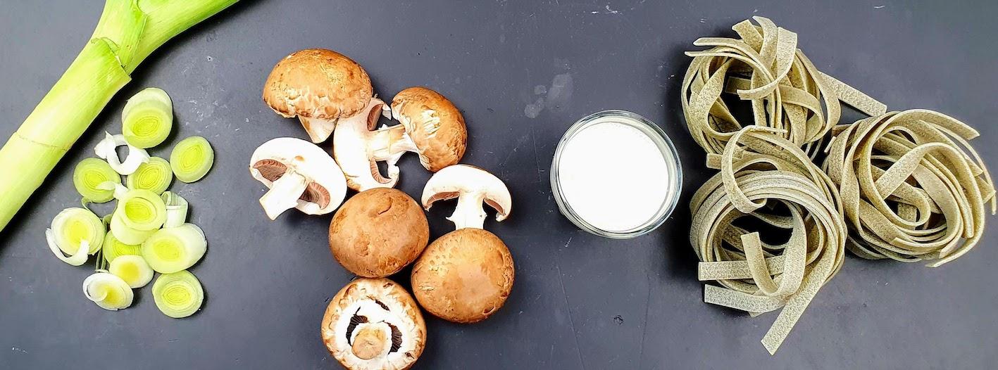 ingredienti tagliatelle champignonjpg