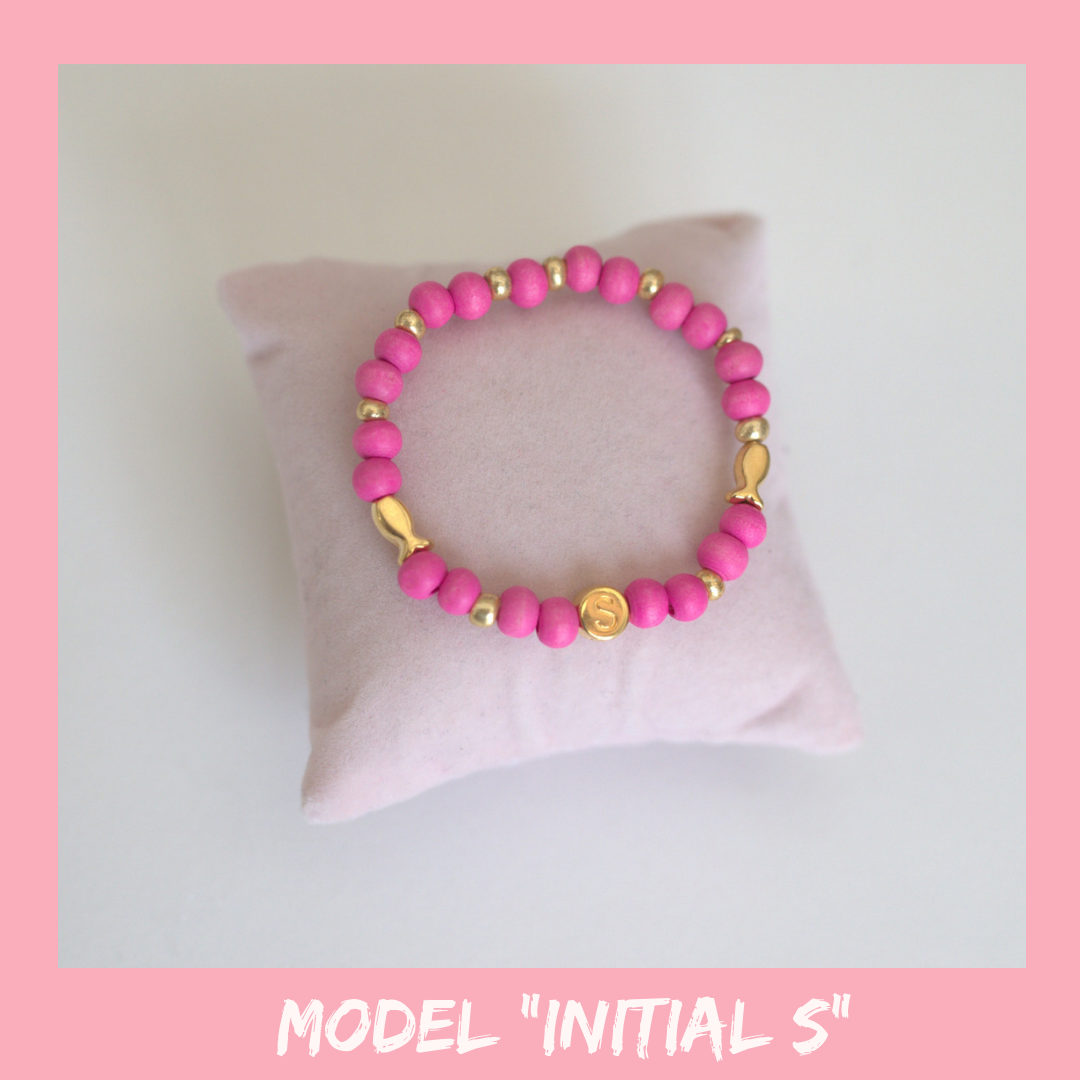 "Girls Intitial Bracelet ""S"""