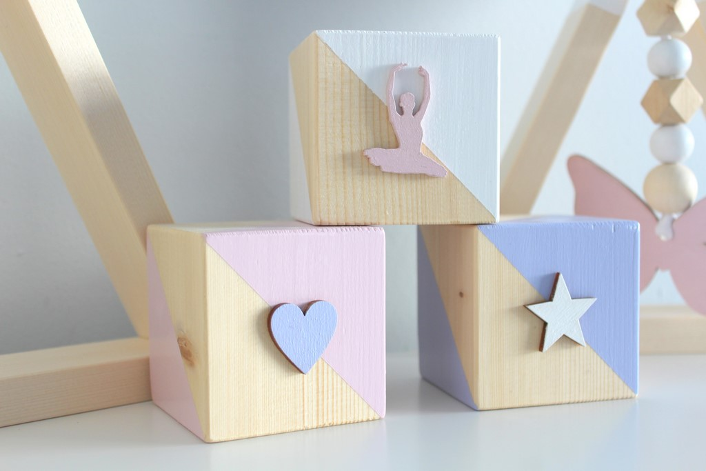 Set of Wooden Cubes - Ballerina