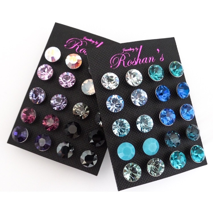 Earrings - SS39 20 Pairs Of Crystal Studs