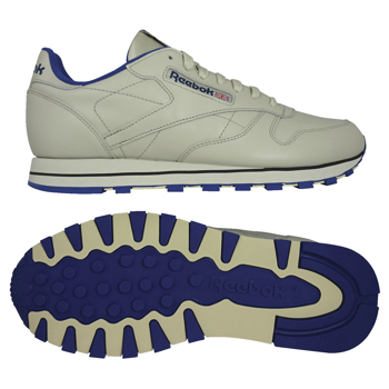 Reebok CLASSIC Ecru Cream-Royal Blue