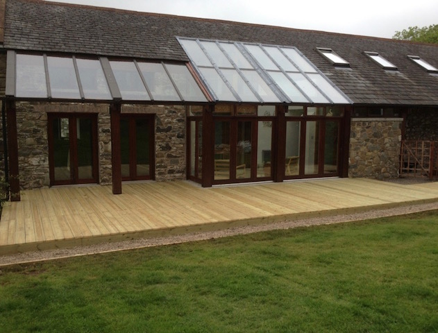 Deck building by Creative Gardens Dalbeattie
