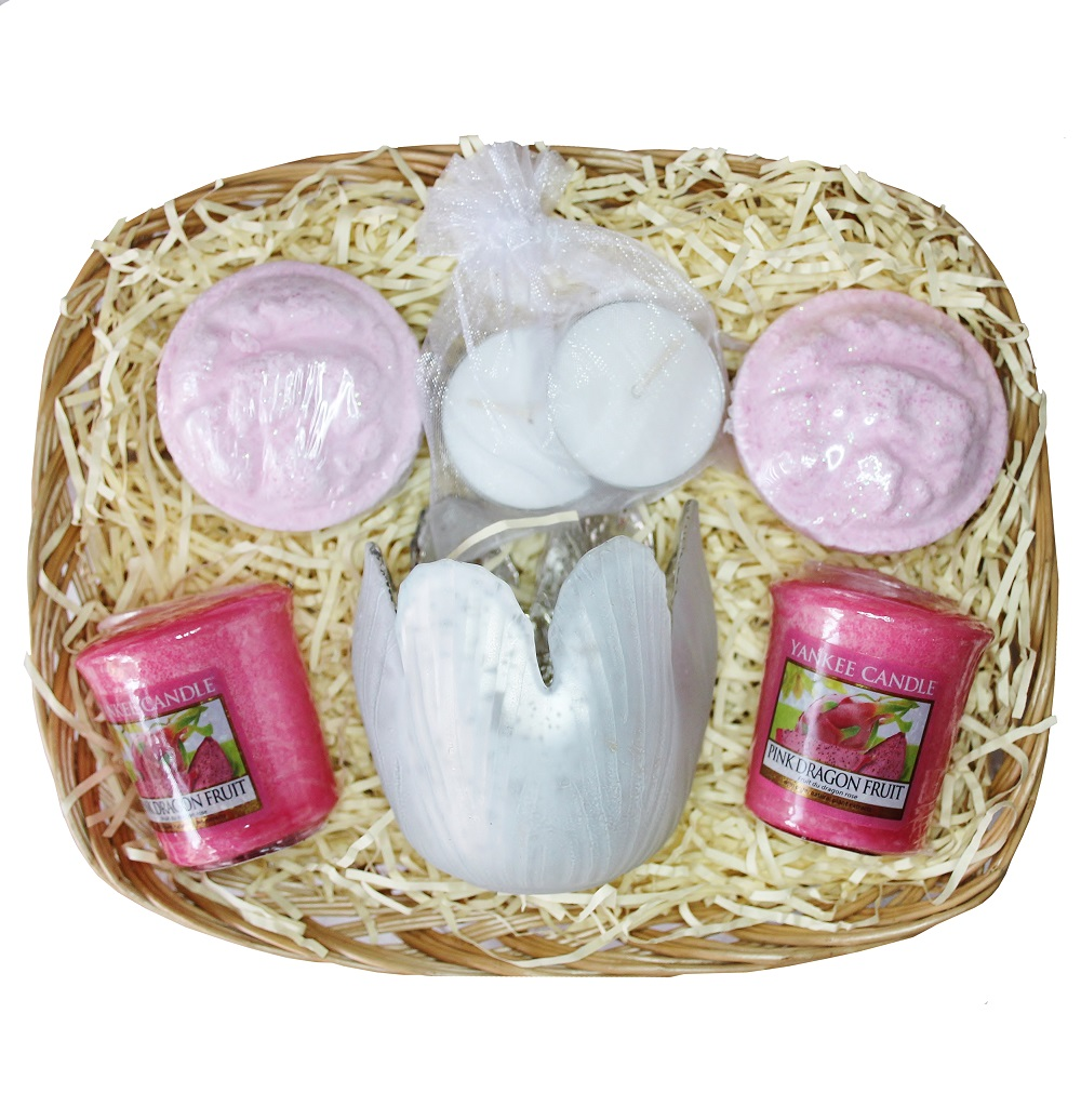 Time to Relax, Gift Basket - Pink