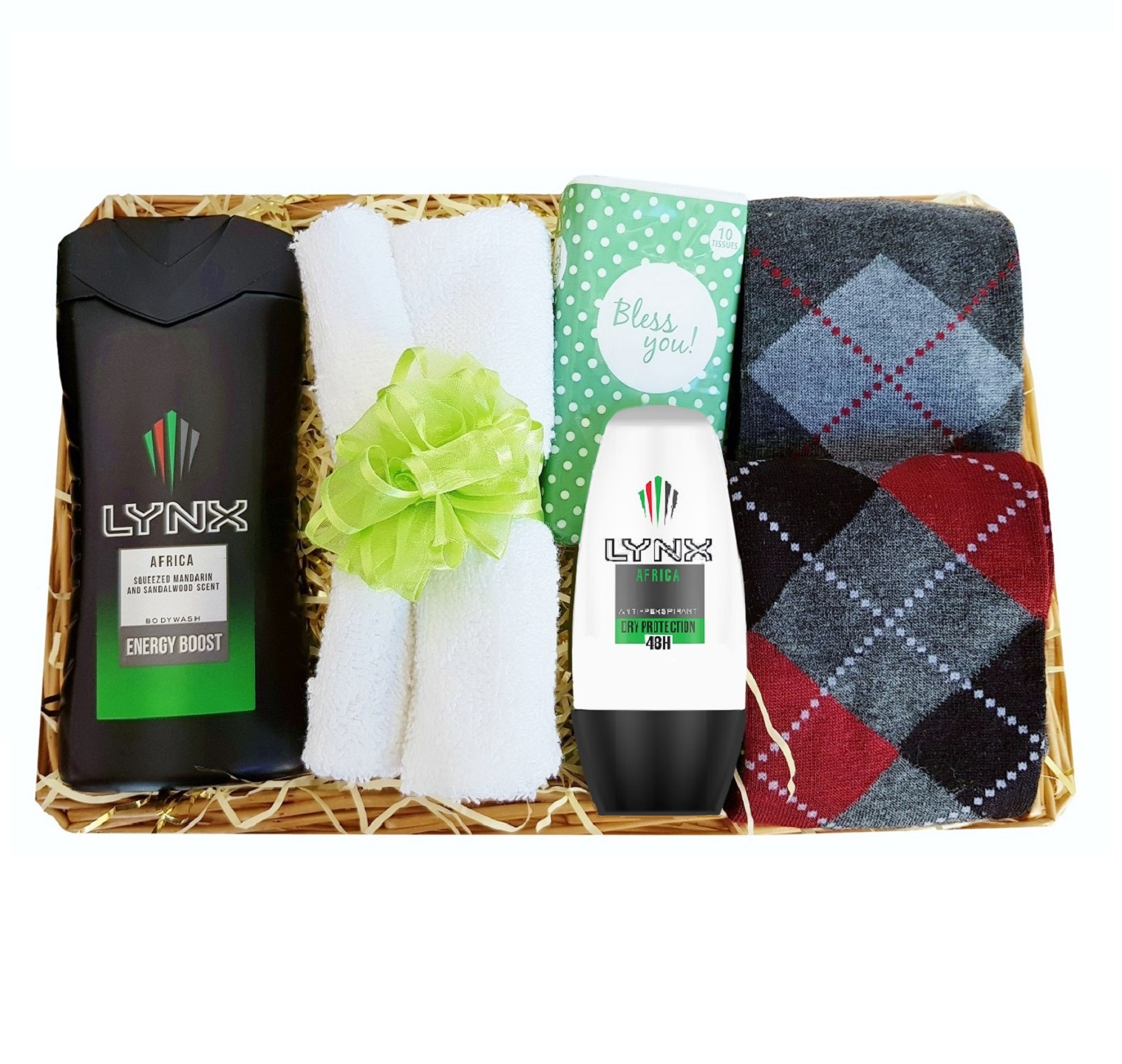 Gift set for Him, with 'Lynx Africa'