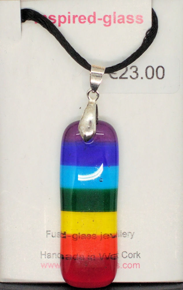 Fused-glass jewellery - pendant - 143