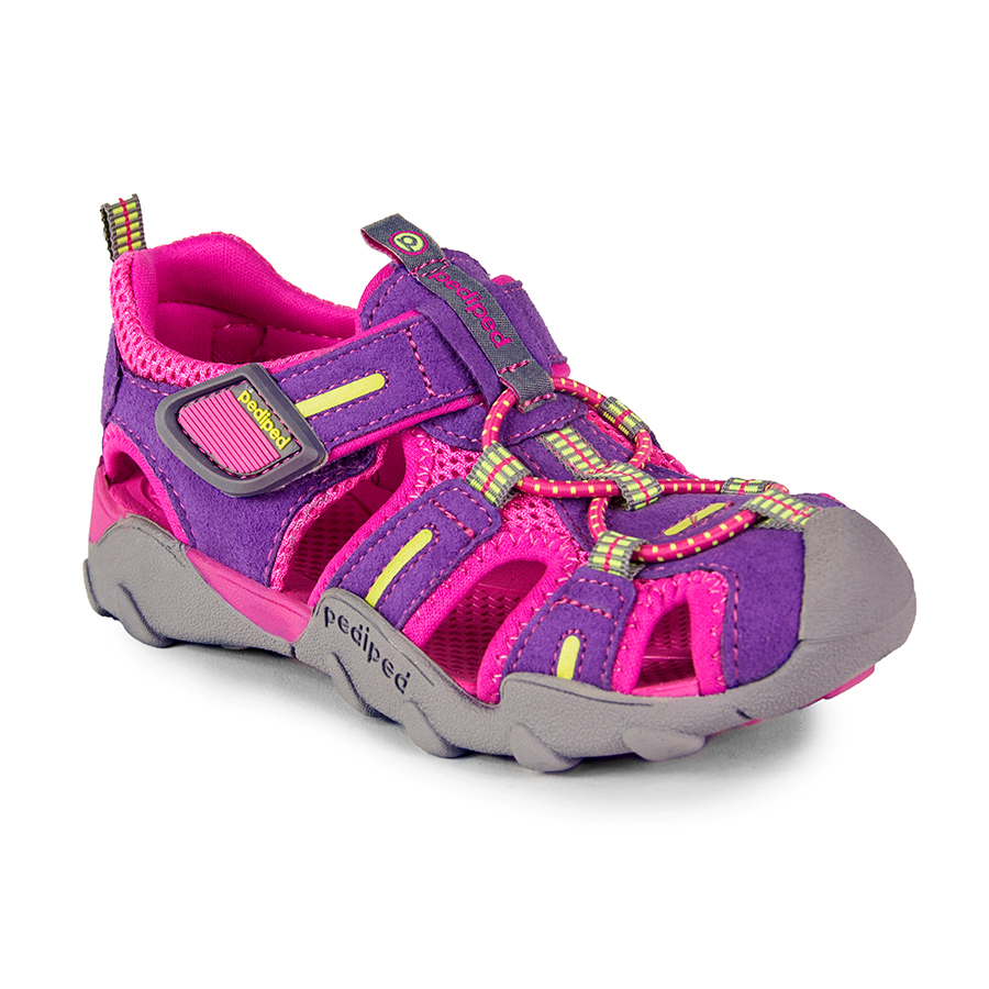 Pink and purple Pediped girls openwork trainer