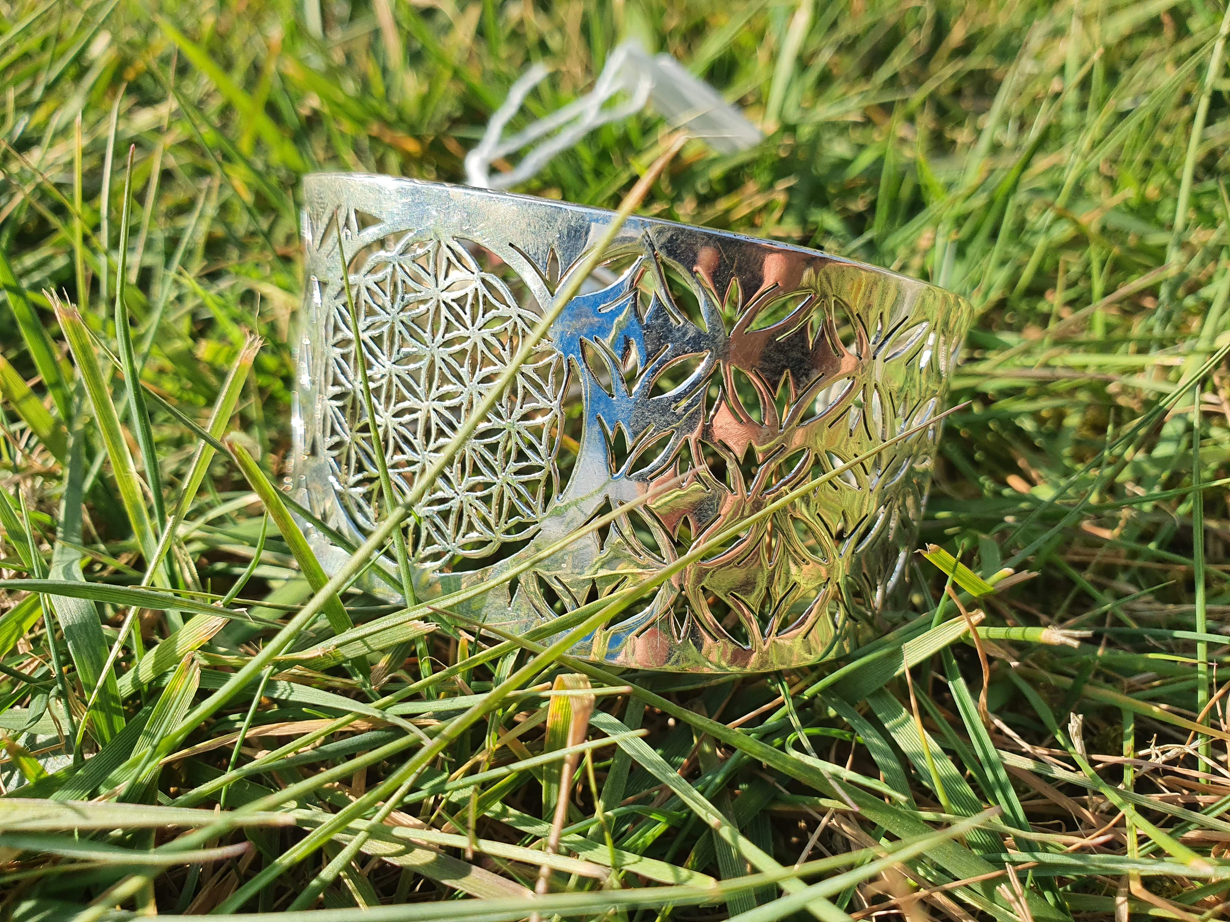 Zilveren armband - flower of life