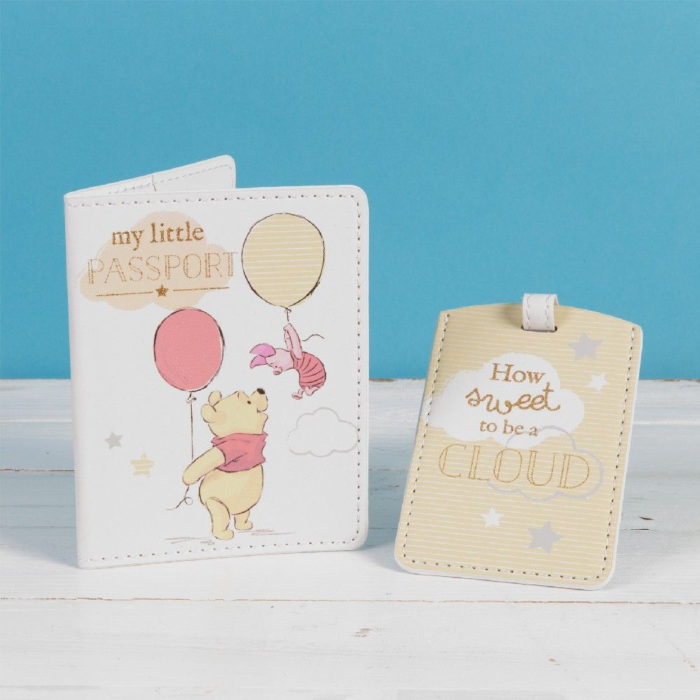 Disney Pooh Passport and luggage tag set