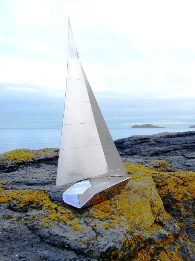 One off Yacht Design Handmade in Marine Grade Stainless Steel - SOLD.