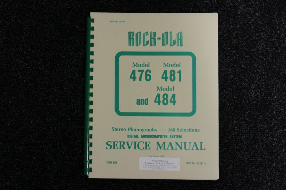 Rock-ola - Service manual - Model 476, 481, 484