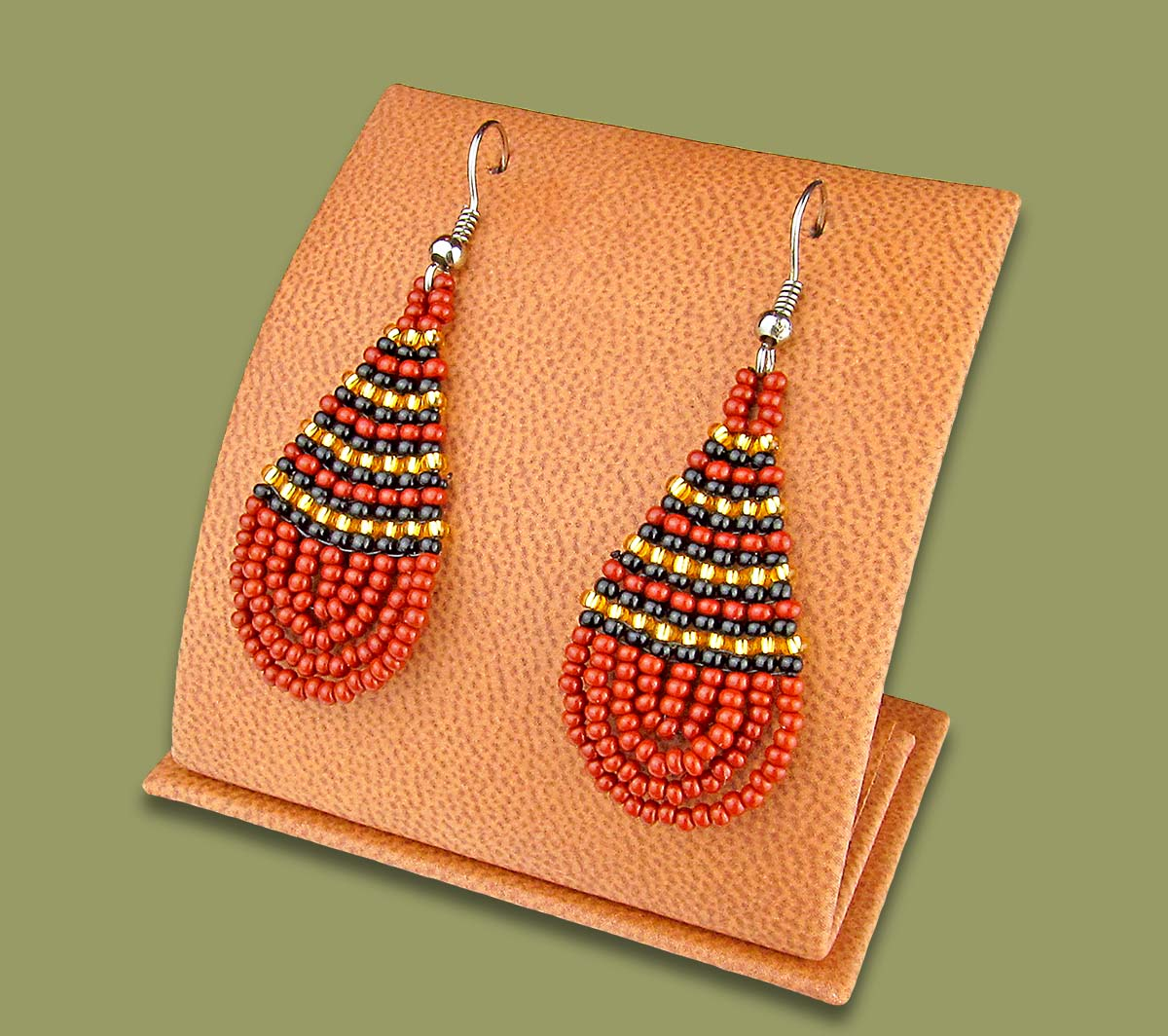 Z2 Beaded Ear Rings Tear Drop (Bulk Purchase)