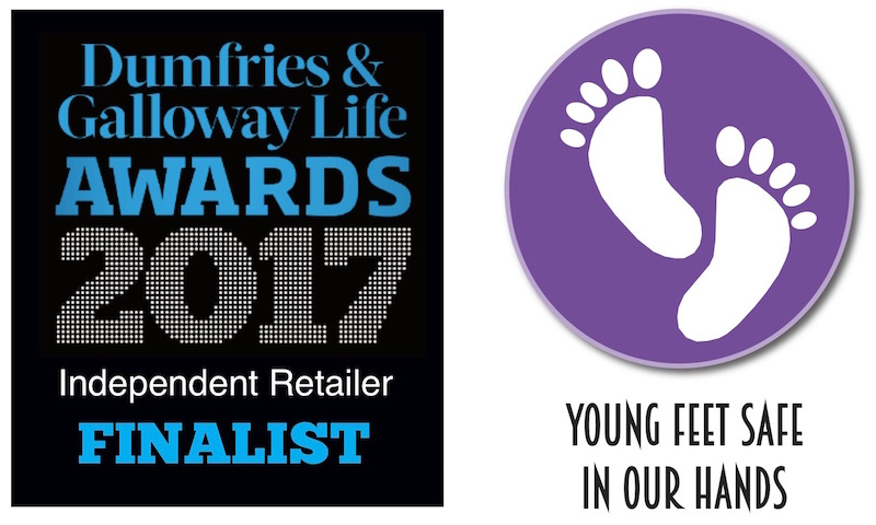 The Pied Piper Children's Shoe Shop in Dumfries, 2017 Independent Retailer Finalist in the Dumfries and Galloway Life Magazine Awards