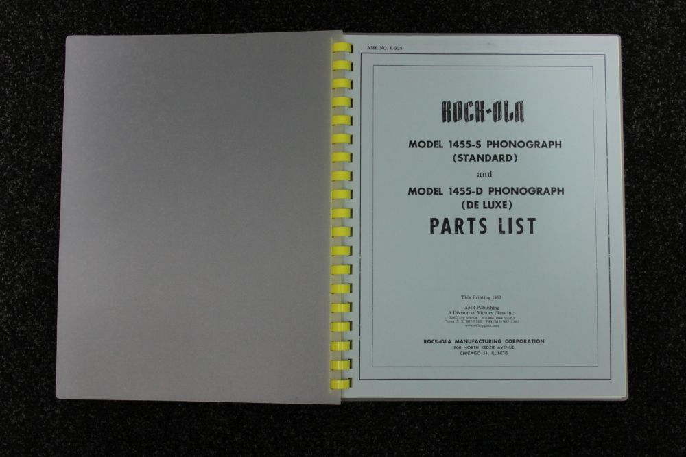 Rock-ola - Parts List - Model 1455 S en 1455 D
