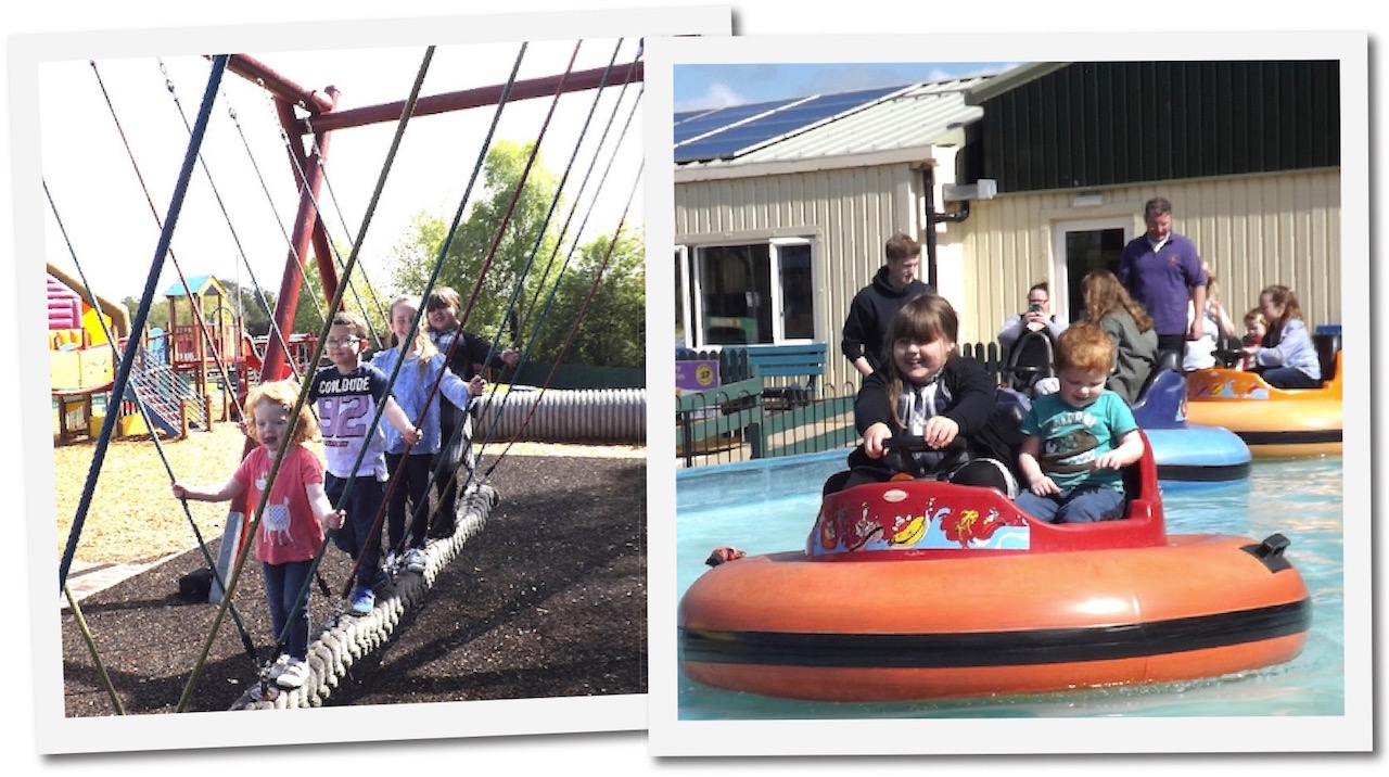 Play park and bumper boats at Dalscone Farm Fun Dumfries