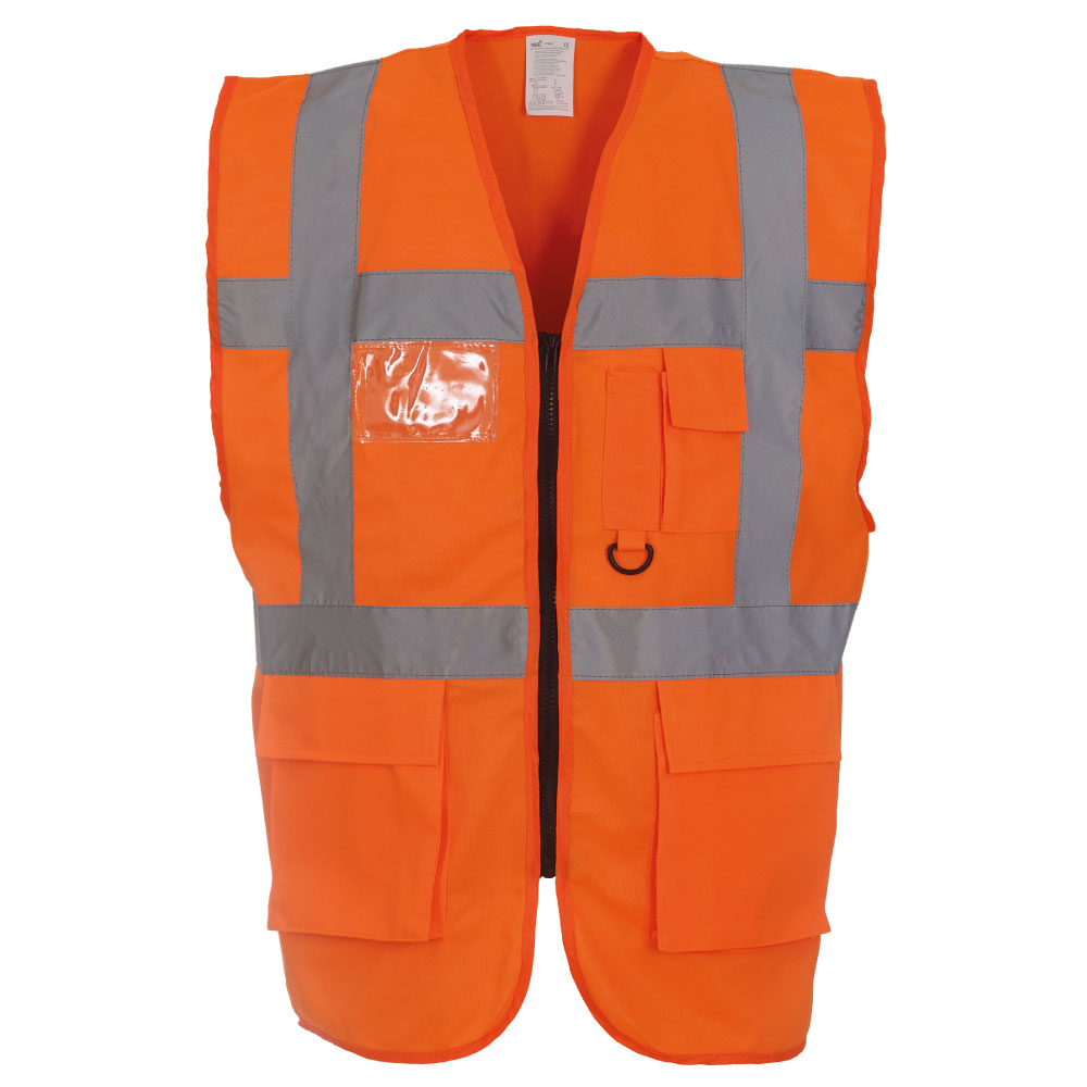 Hi-Vis Orange Multi-functional Executive Vests