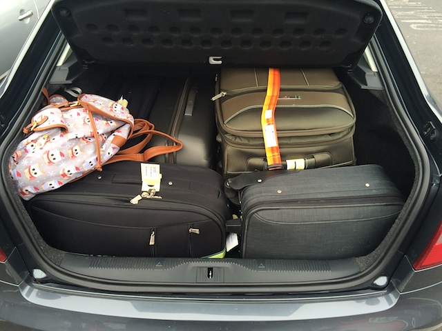 Dowden's taxis have a large boot to accommodate all your holiday luggage