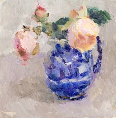 Roses in a Willow Jug 2