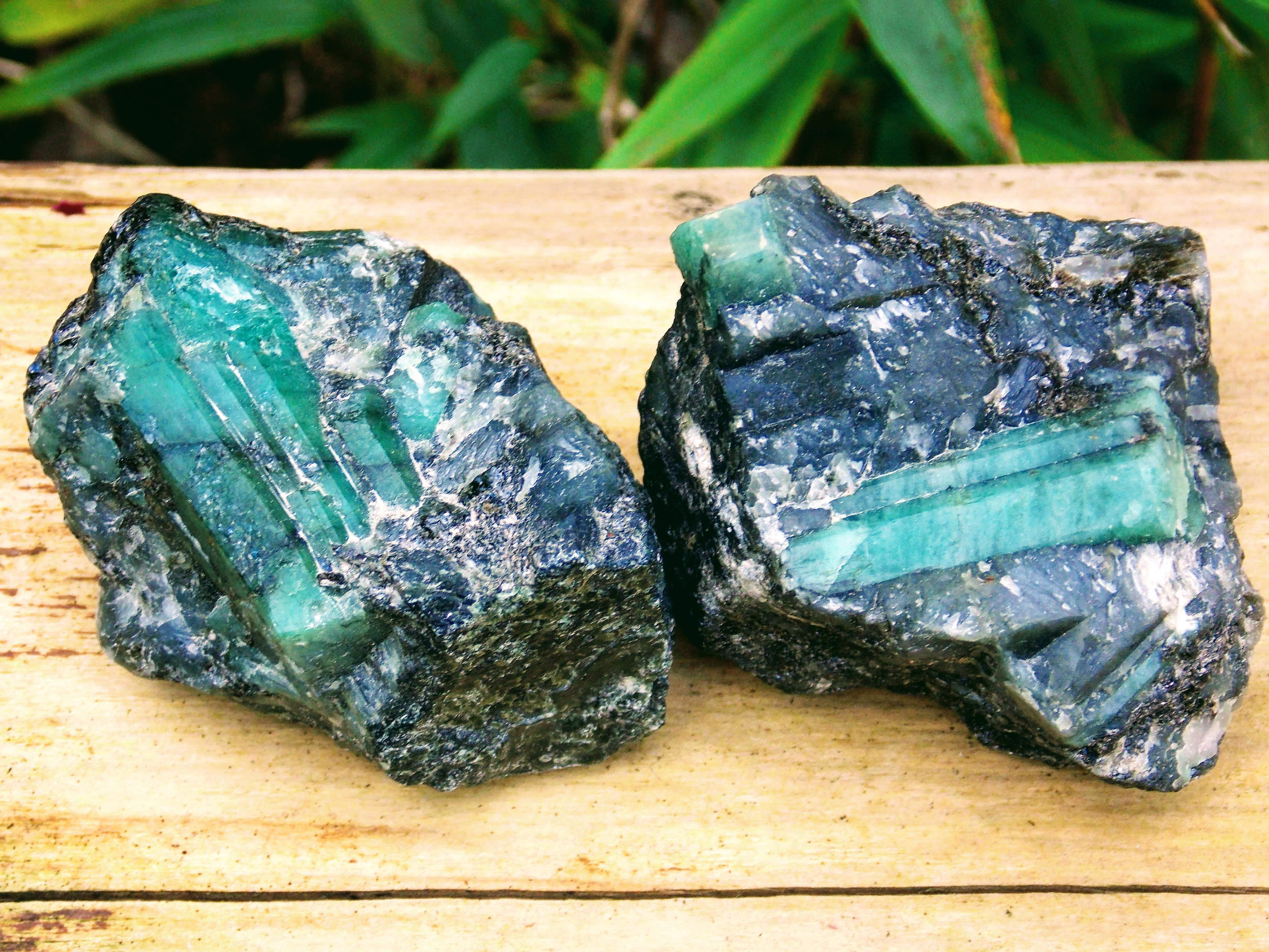 Raw Emerald Cluster