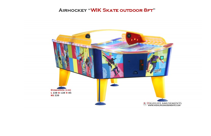 "Rental Airhockey Wik ""Skate outdoor 8ft"""