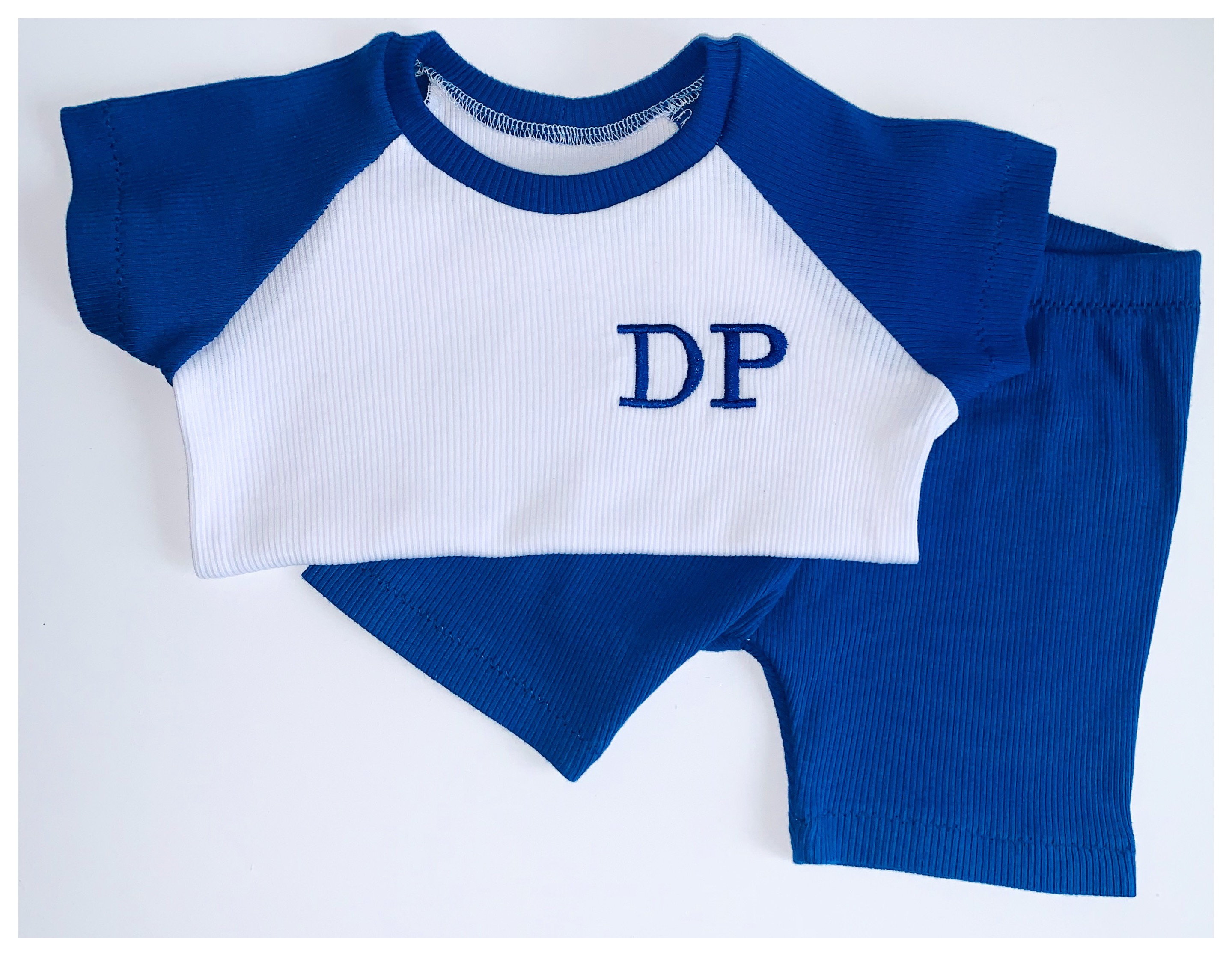 Royal Blue Raglan Shorts Set