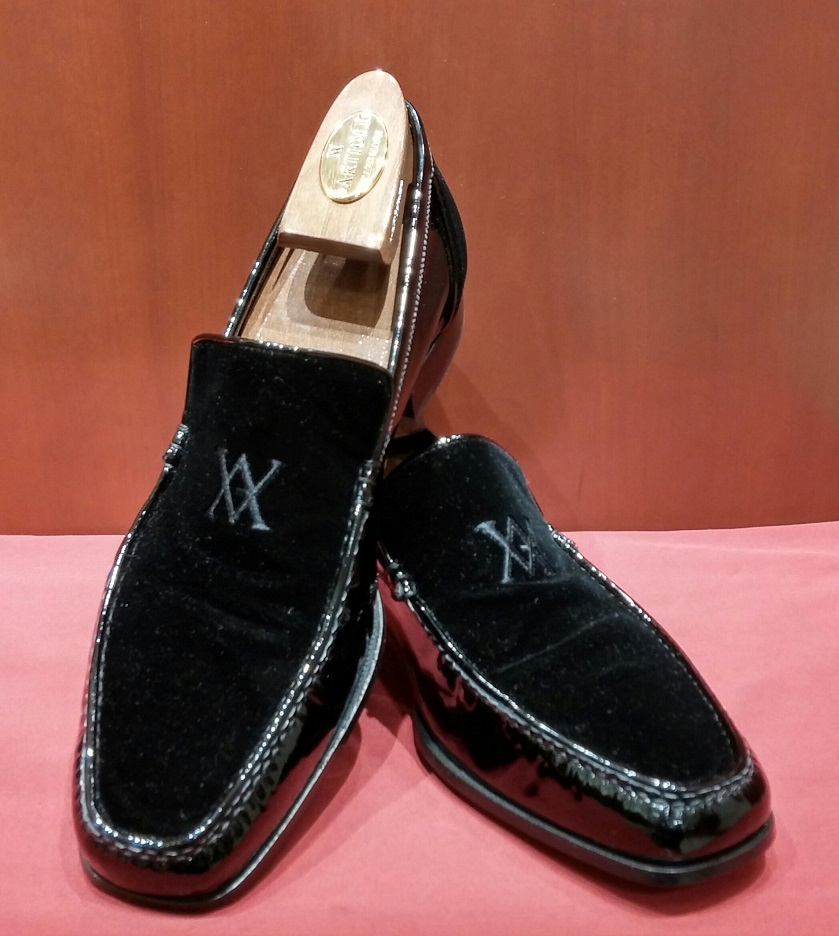 Loafer Model 562 lack Patent Leather & Suede