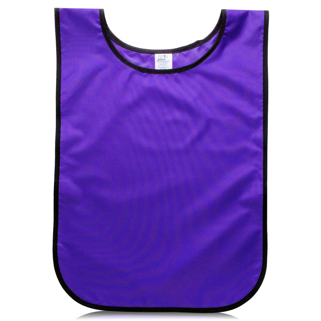 Lightweight Purple Washable Polyester Fabric Tabards. One Size. Fixed Elastic Closing