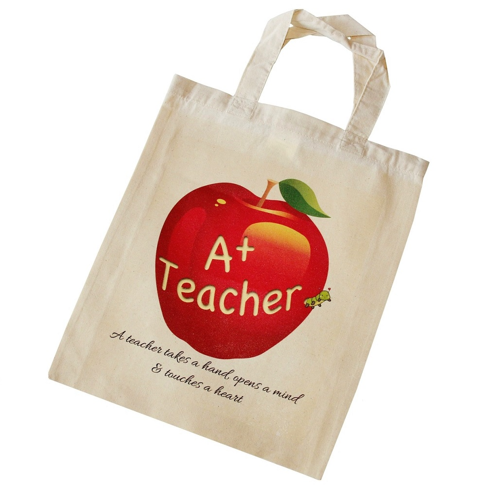 Teacher Tote Bag - 'A teacher takes a hand, opens a mind and touches a heart'