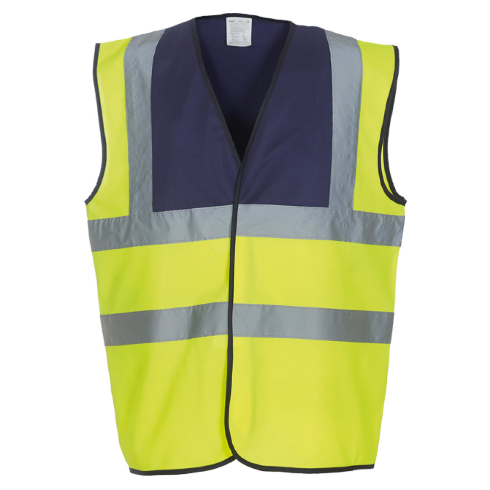 Navy Yoke & Yellow Hi Vis Safety Vests