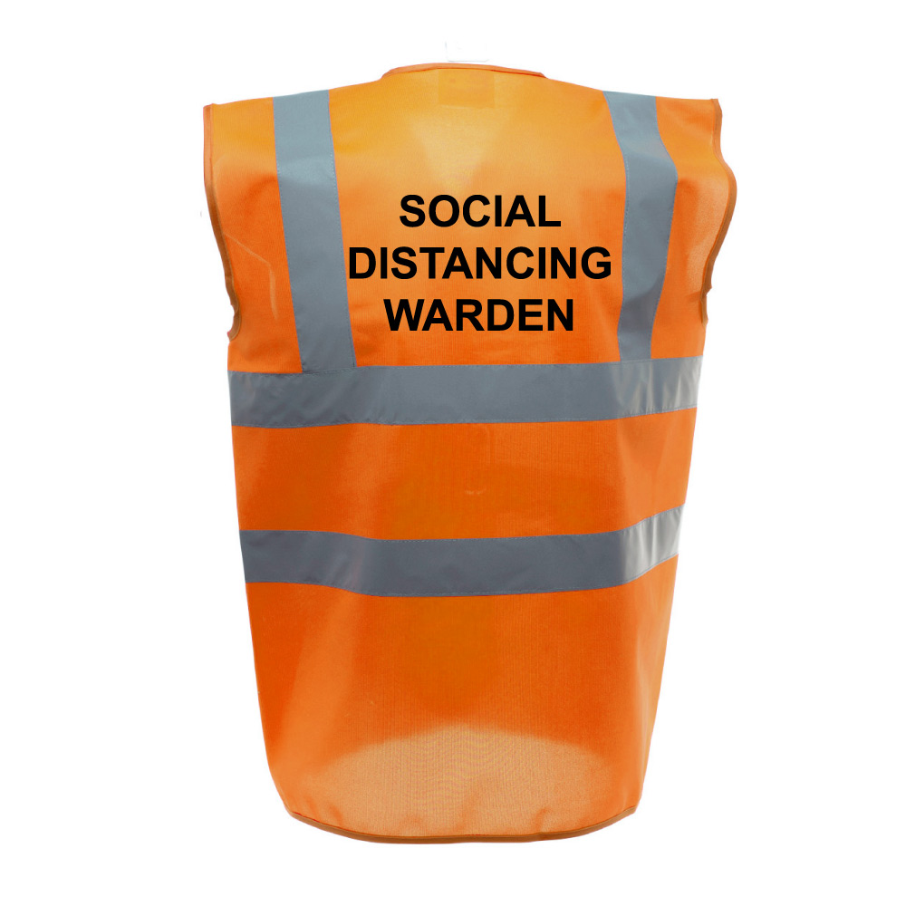 Social Distancing Warden - Orange