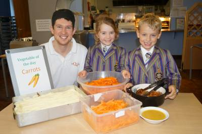 Students enjoy vegetable week menu