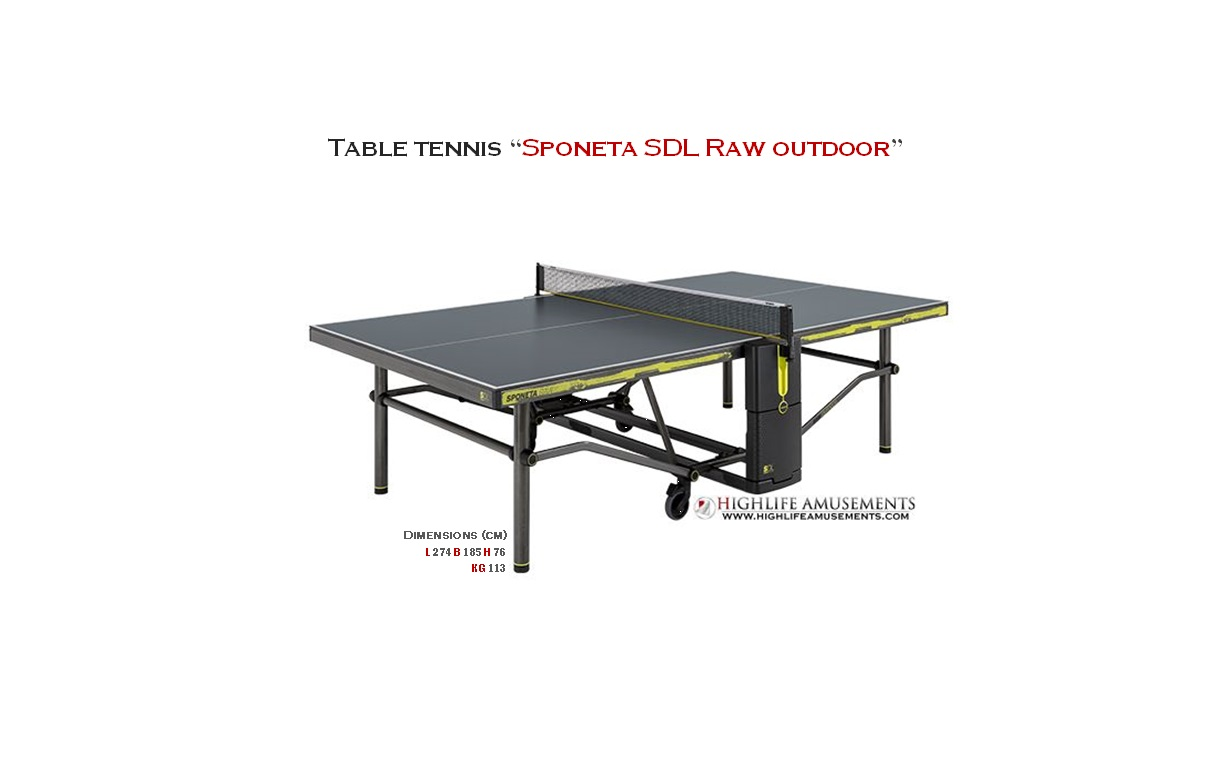 "Table Tennis ""Sponeta SDL Raw outdoor"""