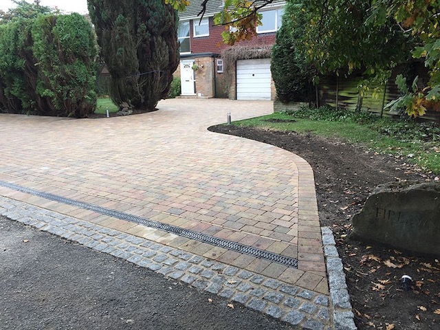 New driveway Bisley by block Paving Surrey