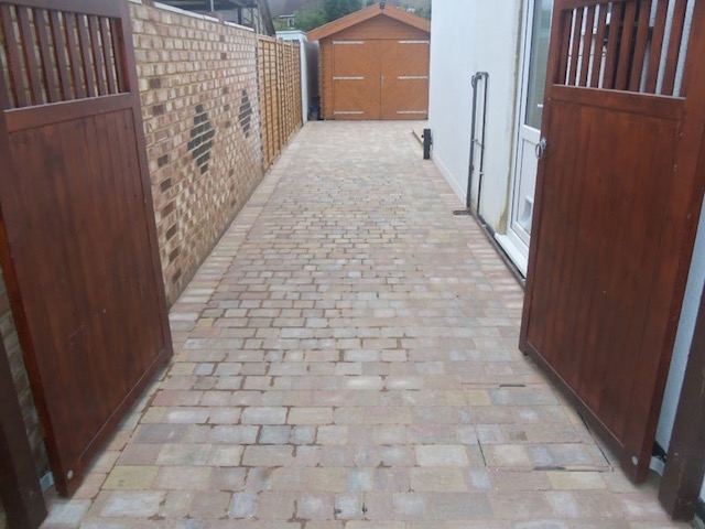 New driveway in Staines, Middlesex