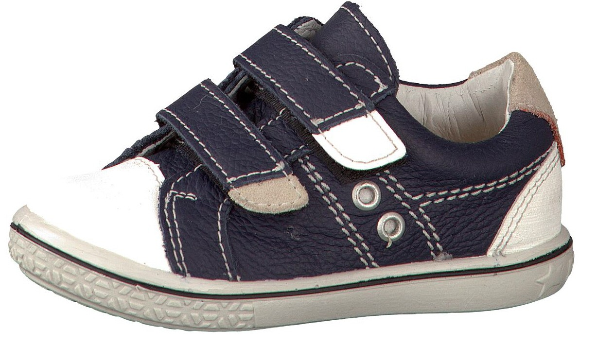 Blue boys trainer with velcro fastenings for toddlers